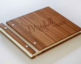Wooden Guest Book, Wooden Wedding Album, Wedding Guest Book, Bamboo Guest Book, Wedding Guest Book, Album, Guest Book