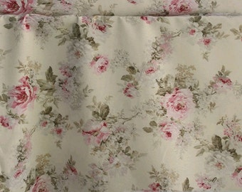 Fabric cotton polyester ecru rose 280 cm wide easy care