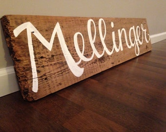 Large, Hand Painted, Customized, Family Name Wood Sign