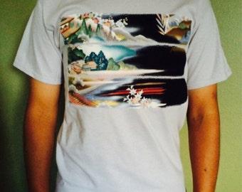 Oriental landscape tshirt || Original design