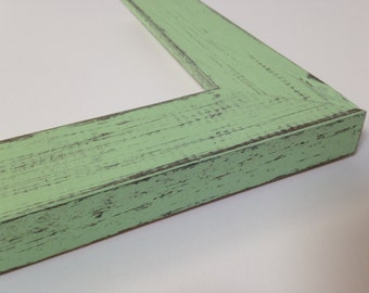 green rustic wood picture frame mint green reclaimed distressed wood all wood 4x6 - Mint Picture Frames