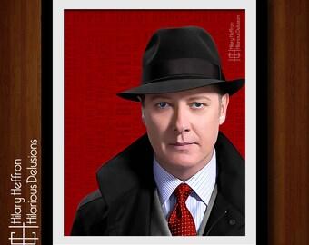 Red Reddington, The Blacklist, Painting Print