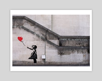 There Is Always Hope by Banksy Giclée Art Print