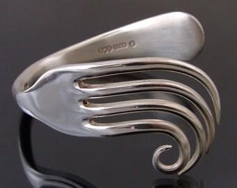Vintage Silver Plated Fork Bangle Bracelet Handmade jewellery