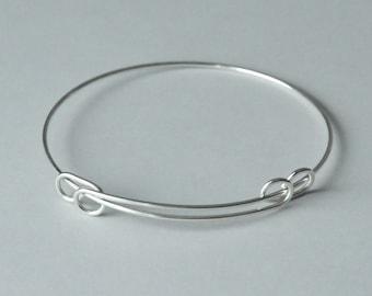 Sterling Silver, Expandable Bracelet, Adjustable Bracelet, Finished Bracelet, 2.5 inch, 16 gauge, Fast Shipping from USA
