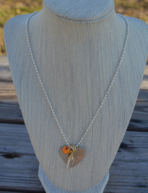 necklace personalized. handmade. heart. charm