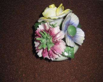 Vintage mini ceramic floral decor