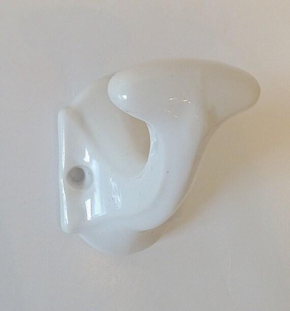 Single White Porcelain Coat Hook  Towel Hook
