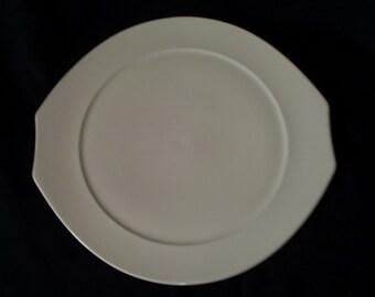 Villeroy & Boch Alba salad side Plate Vintage 80s Elliptical White Bone China Mid Century Modern Art Deco Dinnerware Lot Home Accessories