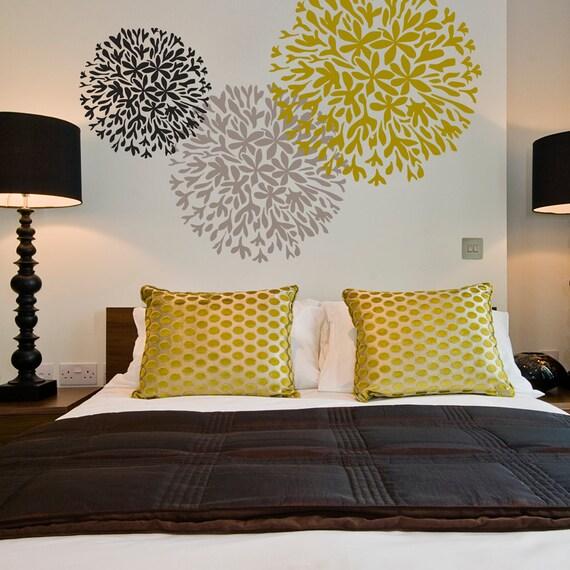 Allium wallpaper stencil reusable stencils diy home for Bedroom stencils designs