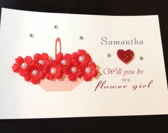 flower girl card with envelope will you be my flower girl