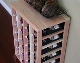 24 Bottle Table Wine Rack (Redwood) by VinoGrotto