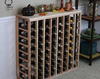 64 Bottle Table Wine Rack (Redwood) by VinoGrotto
