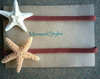 Starfish Headband, Starfish Hair Accessories - 2 PC Seashell Headbands, Children Hair, Bridal Hair, Mermaid Hair