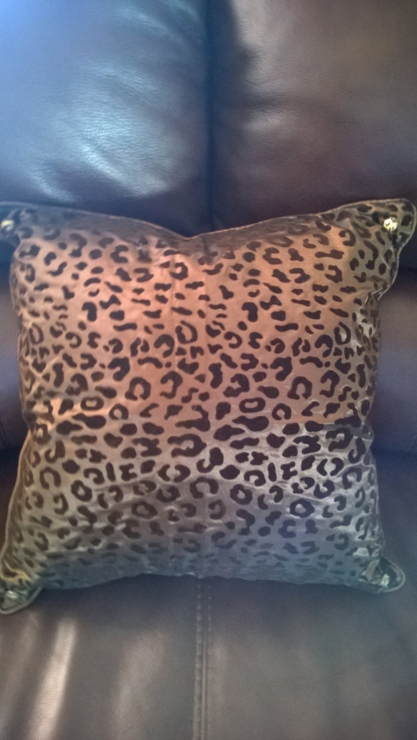 16 X 16 Flocked Leopard Print Decorative Pillows by DesertCrafters