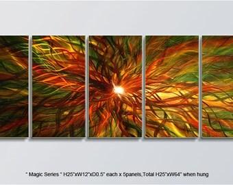 "Bright Original Metal Wall Art Modern Abstract Indoor Outdoor Decor Direct From Artist ""Magic Serise"""