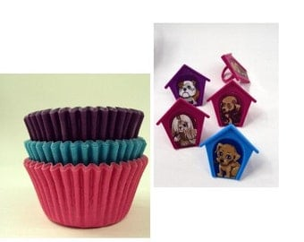 Puppy Rings with Assorted Color Baking Cups