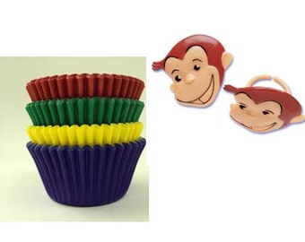 Curious George Rings with Assorted Color Baking Cups