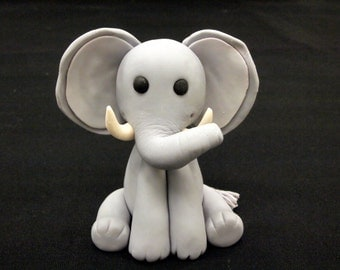 Fondant Elephant Cake Topper (MADE TO ORDER)