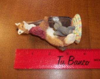 Avon 1994 Fox/Squirrel Figurine