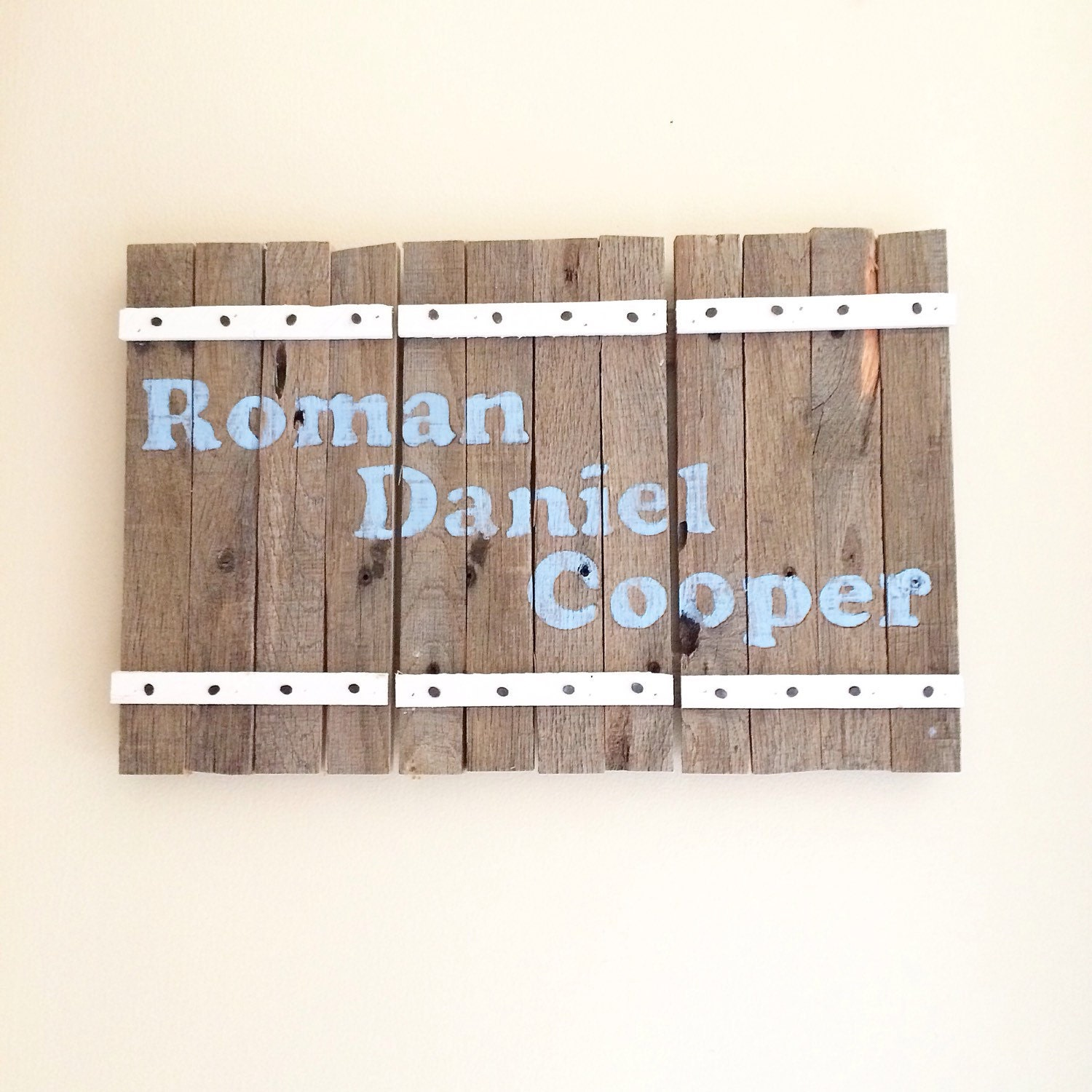 Personalized Hand Painted Barn Door Sign Baby Name Family