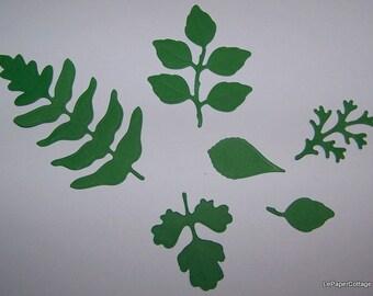 Green foliage die cuts