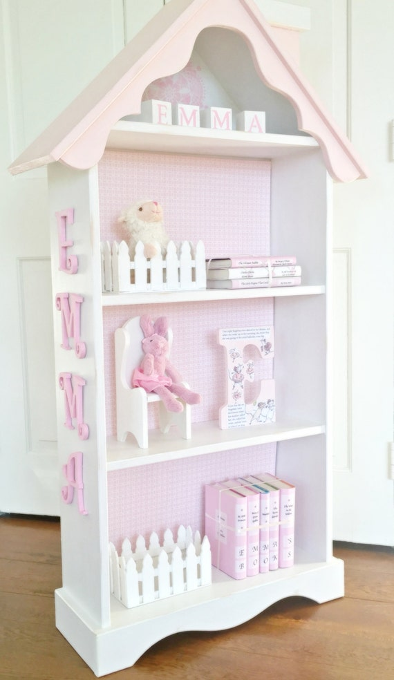 dollhouse bookcase, Custom childrens bookcase, Nursery bookcase ...