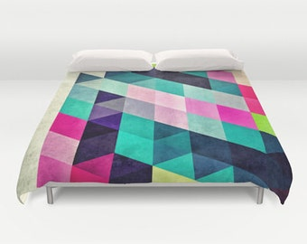 Popular items for triangles de couette on etsy for Housse couette coloree
