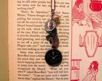 Handmade Steampunk Watch Charm Necklace