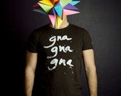 T-shirt Gna Gna Gna Homme Moustache Moutarde