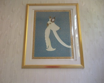 Erte Limited Edition Serigraph Turquoise Tanagra - 1989