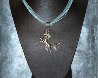 Necklace Pendant Pegasus Horse Flying Wings Mythology