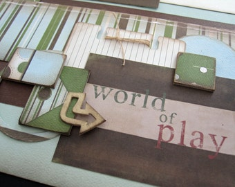 Scrapbook Page Kit titled 'World of Play'