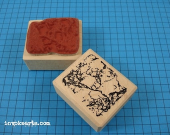 Marble Texture Stamp / Invoke Arts Collage Rubber Stamps