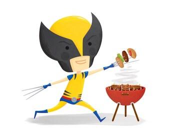 "Wolverine 5""x5"" Giclée Print"