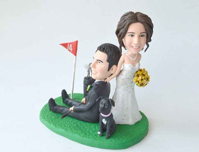 funny golf themed wedding cake toppers golf wedding cake topper personalized toppers by 14545