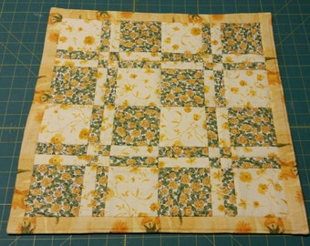 "Quilted Table Mat, 17"" Square"