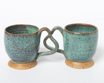 Heart-shaped handle mug