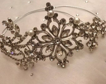 Antique style crystal headpiece