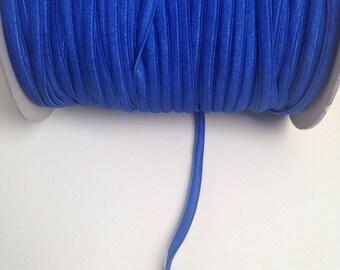 30m Royal Blue Bra Strap Elastic 6mm Wide