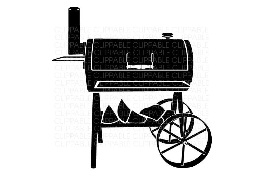 Bbq smoker grill clip art digital graphics instant