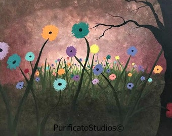 Meadow of Diversity-Original Acrylic Paintings by Danielle Purificato