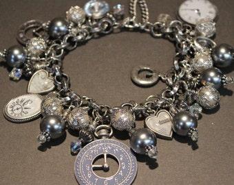 Time Flies Charm Bracelet