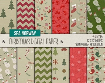 Digital paper,christmas backgrounds,scrapbook papers,300 DPI -12 x 12 inch, JPG /001