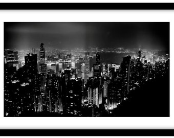 Hong Kong from Victoria Peak.   Photograph is printed in 308gsm Hahnemuhle fine art paper (Unmatted)
