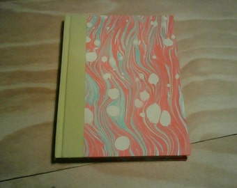 Marbled hardcover notebook