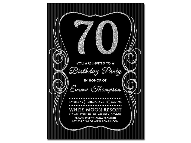 70Th Invitations was best invitations layout