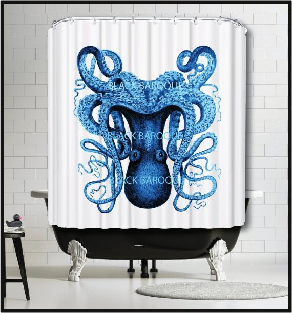 Anthropologie octopus shower curtain