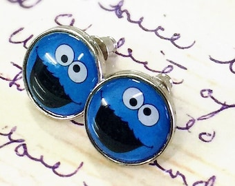 Cookie Monster Sesame Street earring