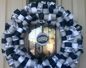 show your spurs pride basketball ribbon wreath san